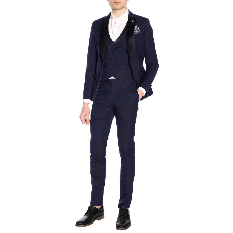 Классический костюм Мужское Manuel Ritz синий 7