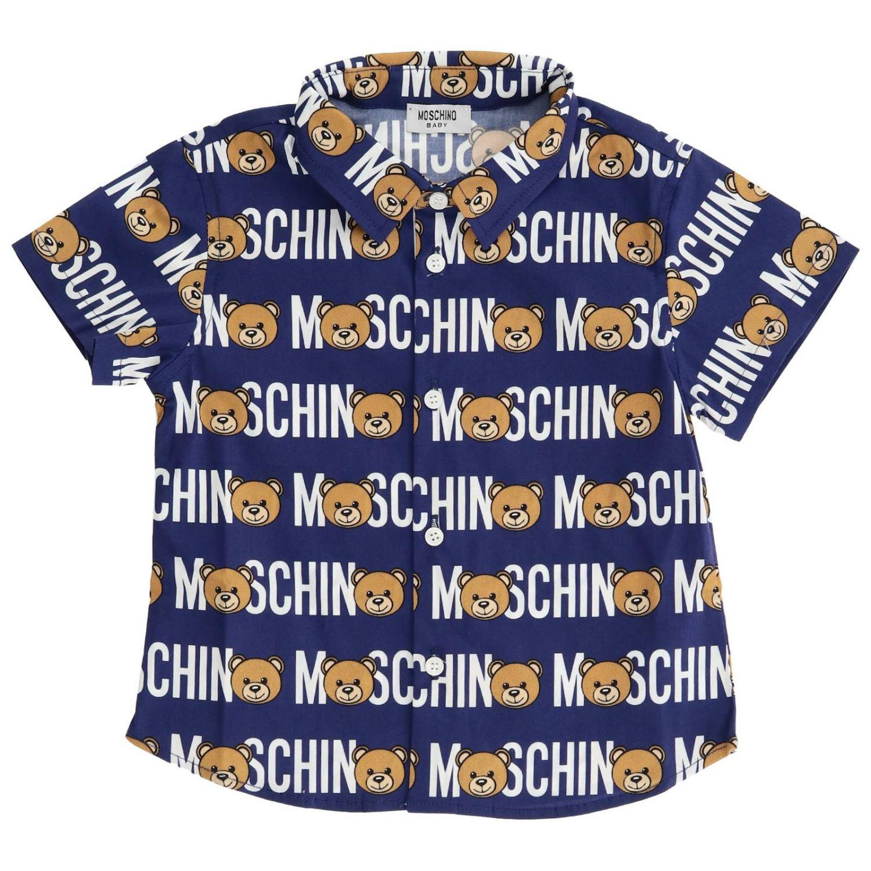 Shirt kids Moschino Baby blue 1