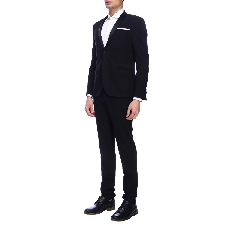 Suit Daniele Alessandrini: Suit men Daniele Alessandrini black 2