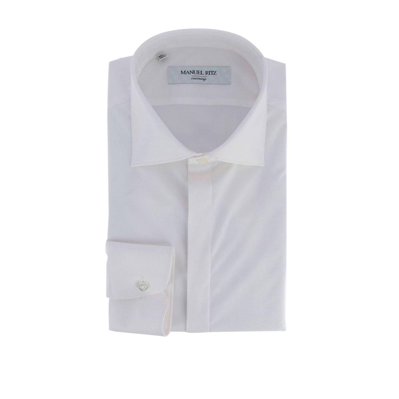 Camicia Manuel Ritz con collo francese bianco 1