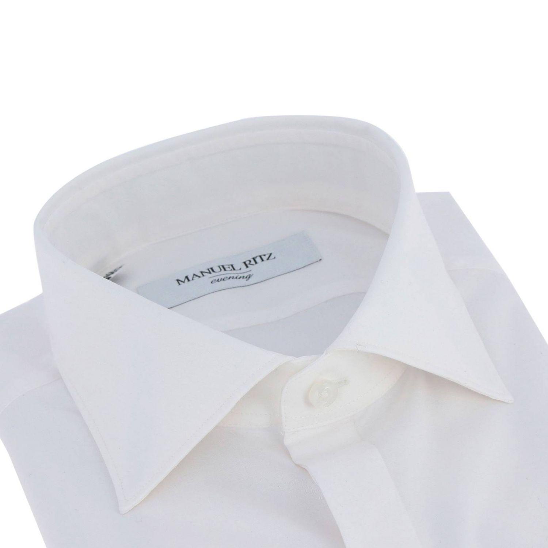 Camicia Manuel Ritz con collo francese bianco 2