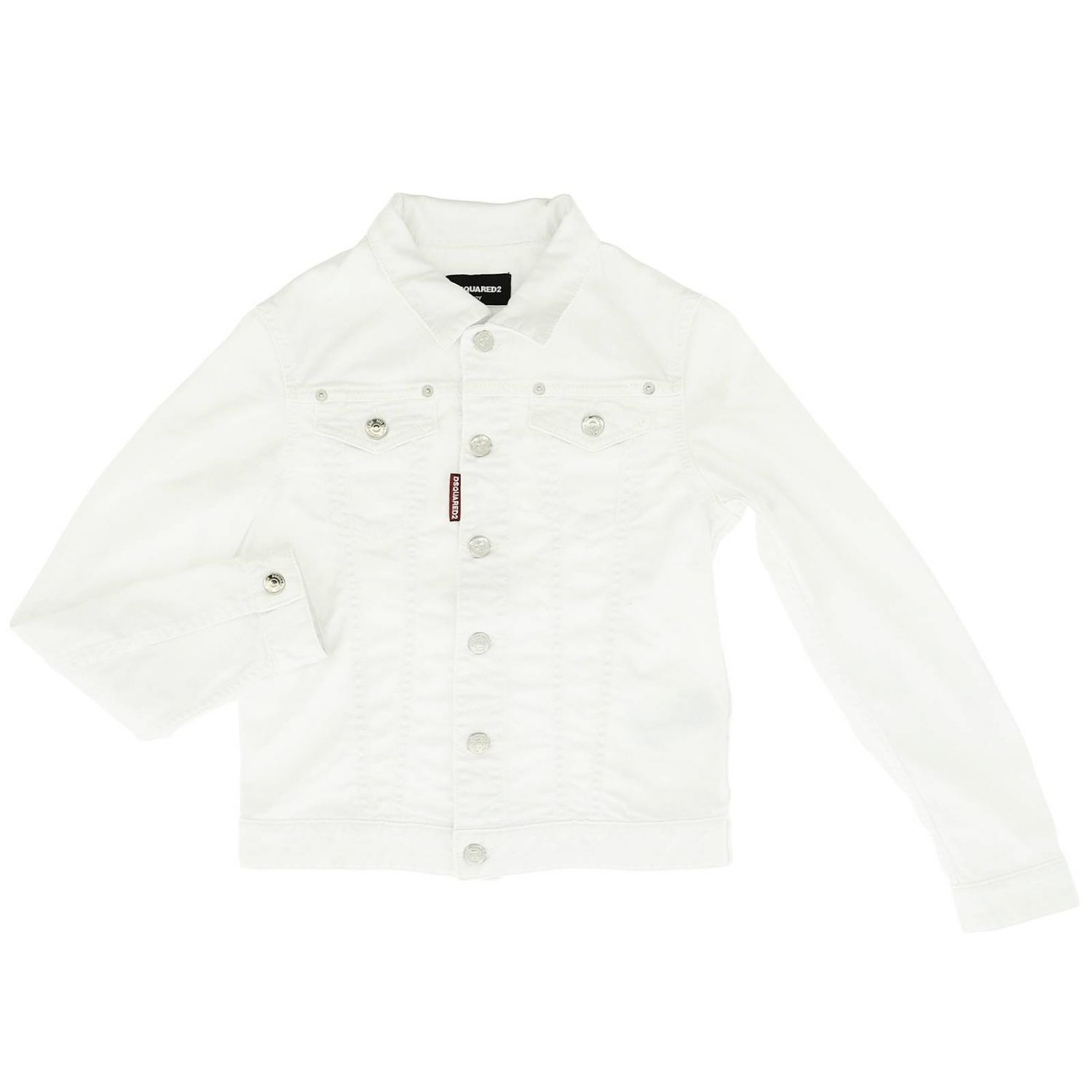 Giacca Dsquared2 Junior: Giacca bambino Dsquared2 Junior bianco 1