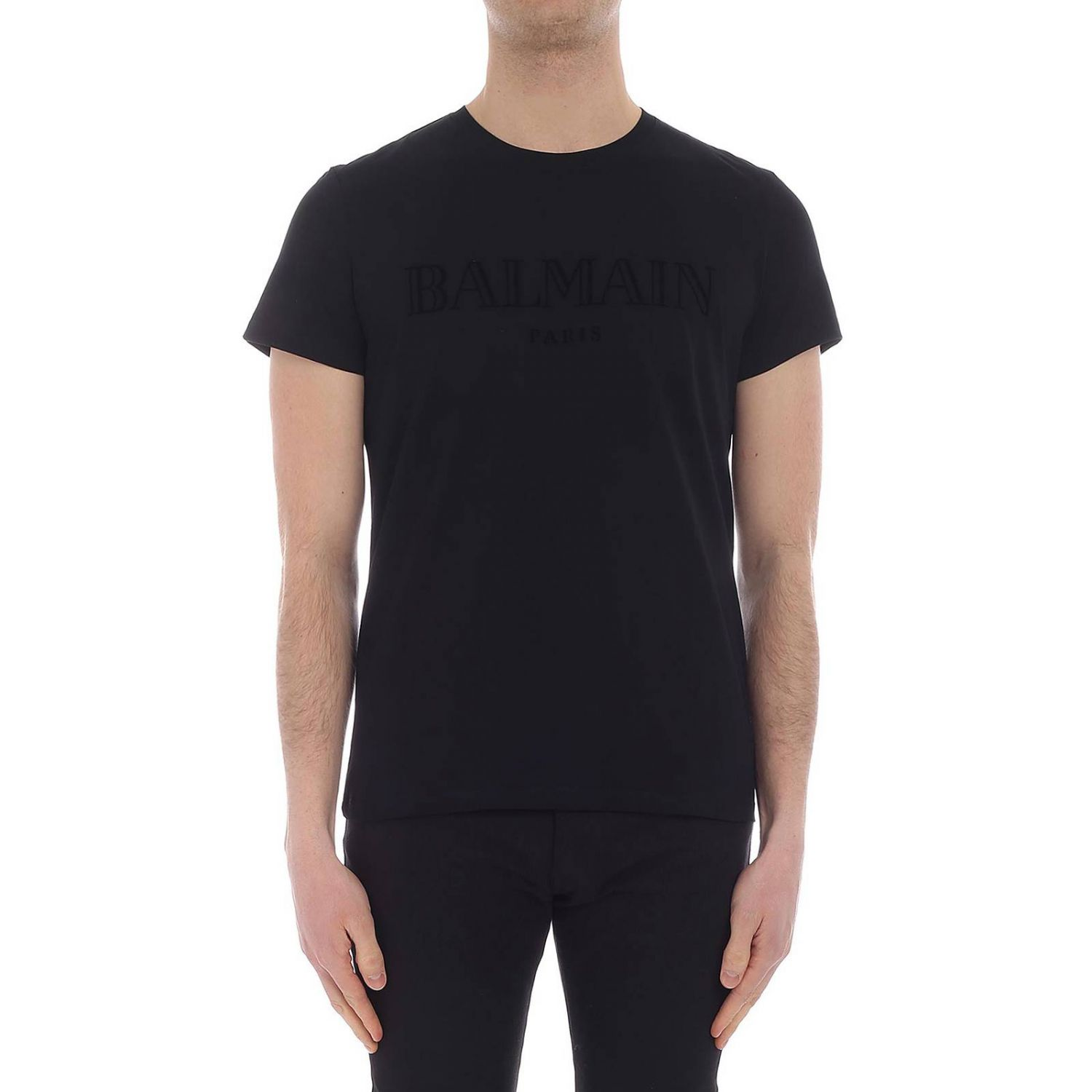 T-shirt men Balmain black 1