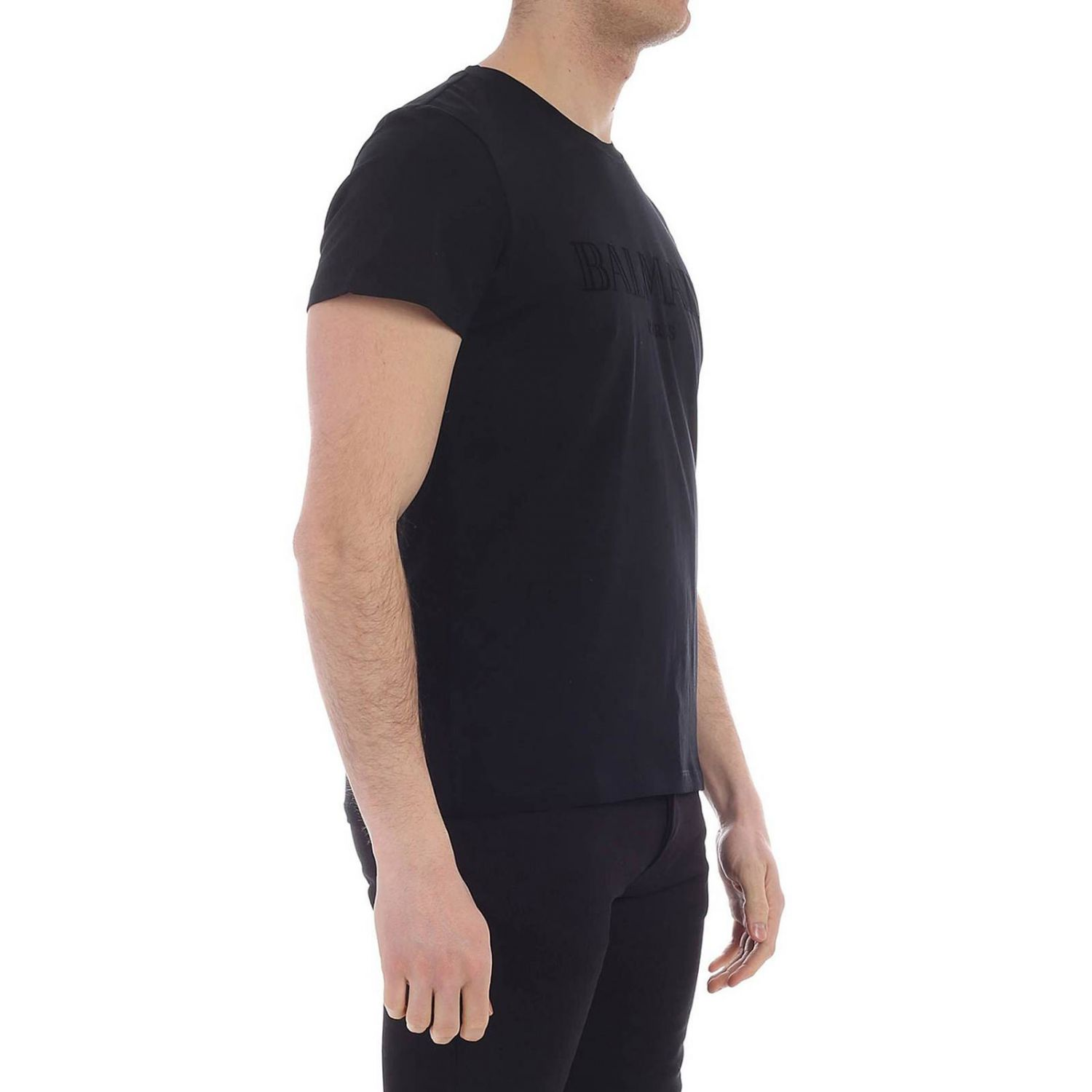 T-shirt men Balmain black 2