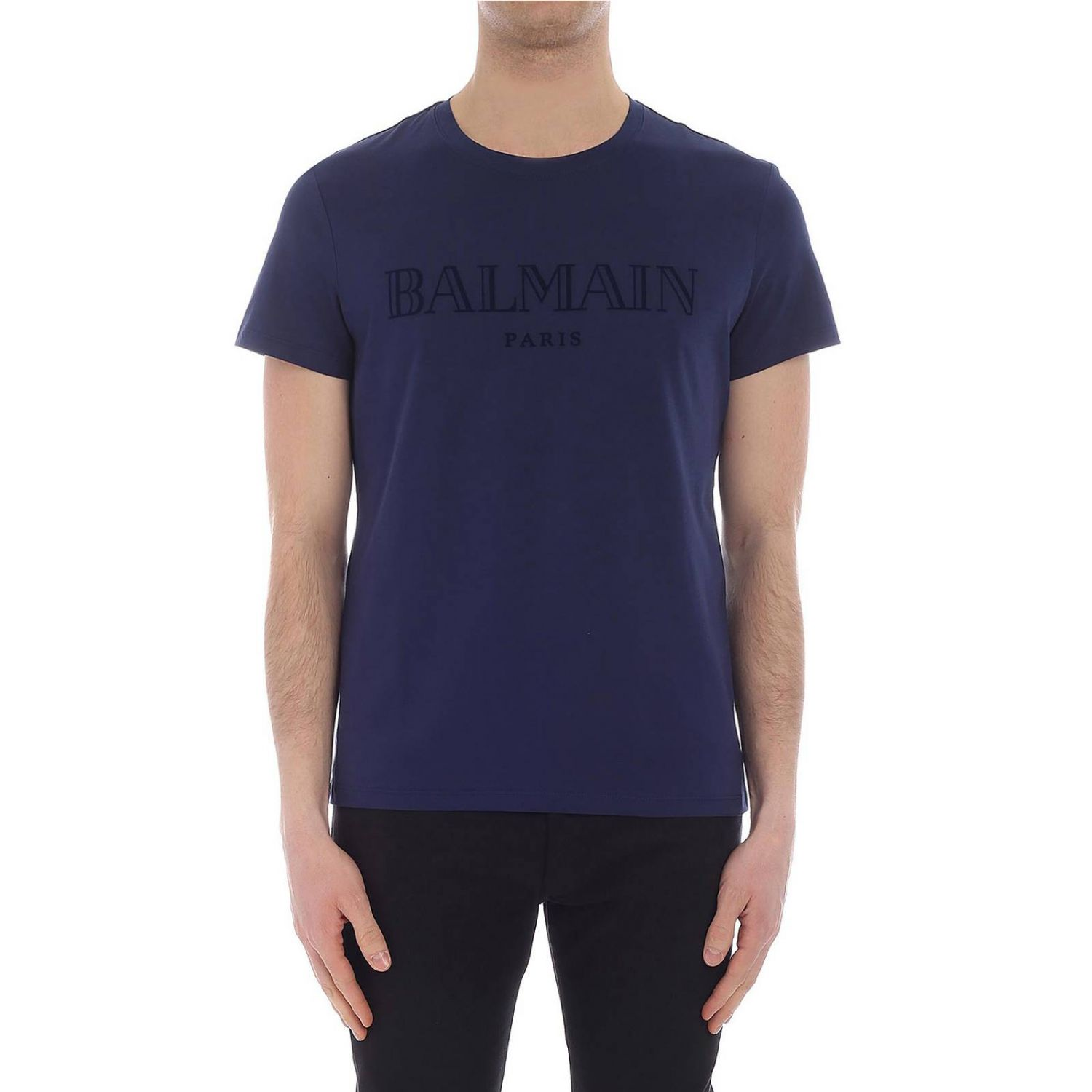 T-shirt Balmain: T-shirt men Balmain blue 1