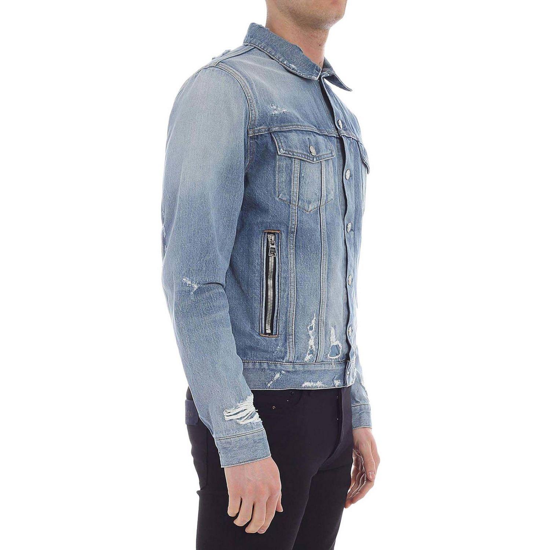 Куртка Balmain: Куртка Мужское Balmain голубой 2