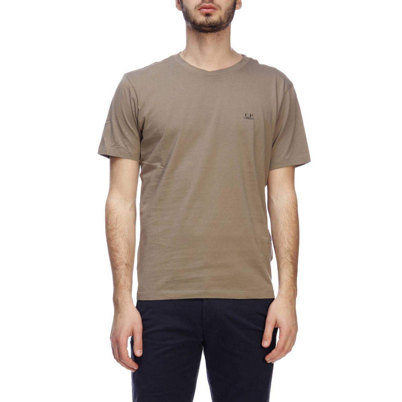 T-shirt a maniche corte con maxi logo C.p. Company grigio 1