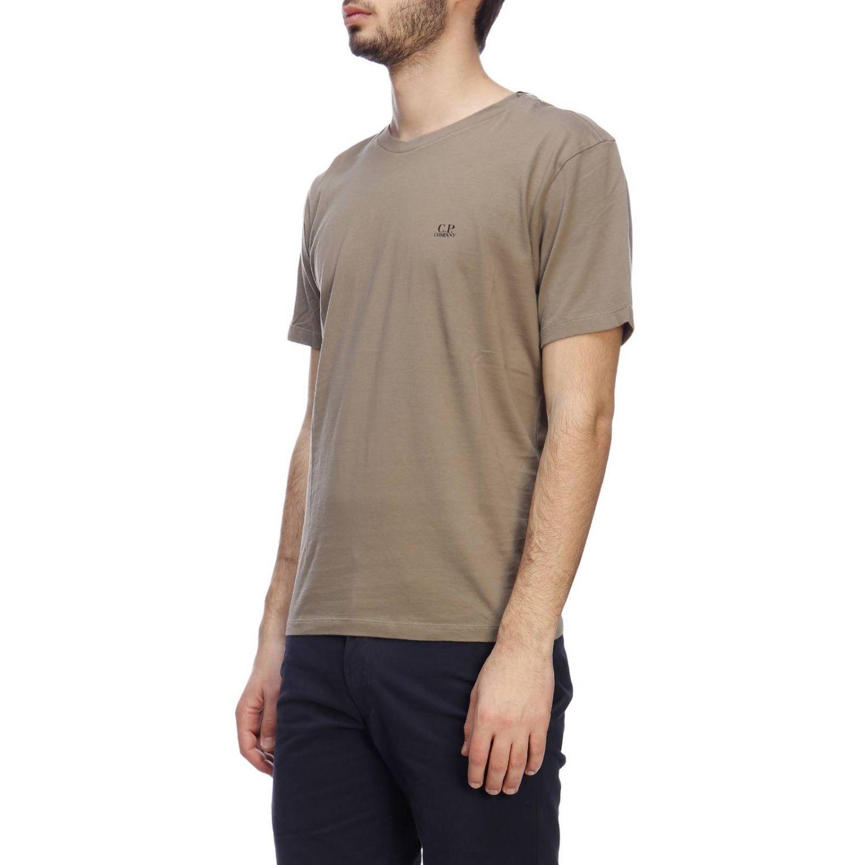 T-shirt a maniche corte con maxi logo C.p. Company grigio 2