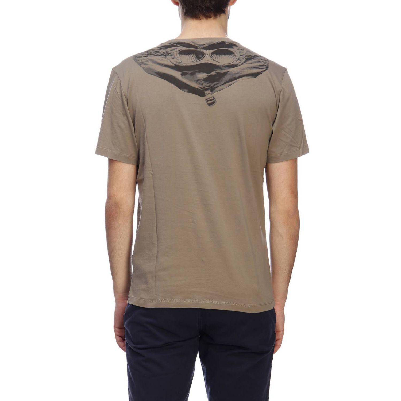 T-shirt a maniche corte con maxi logo C.p. Company grigio 3