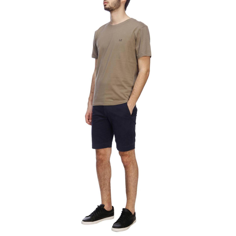 T-shirt a maniche corte con maxi logo C.p. Company grigio 4