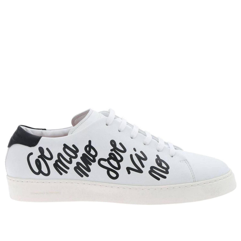 Sneakers Ermanno Scervino stringata con maxi scritta laterale bianco 1