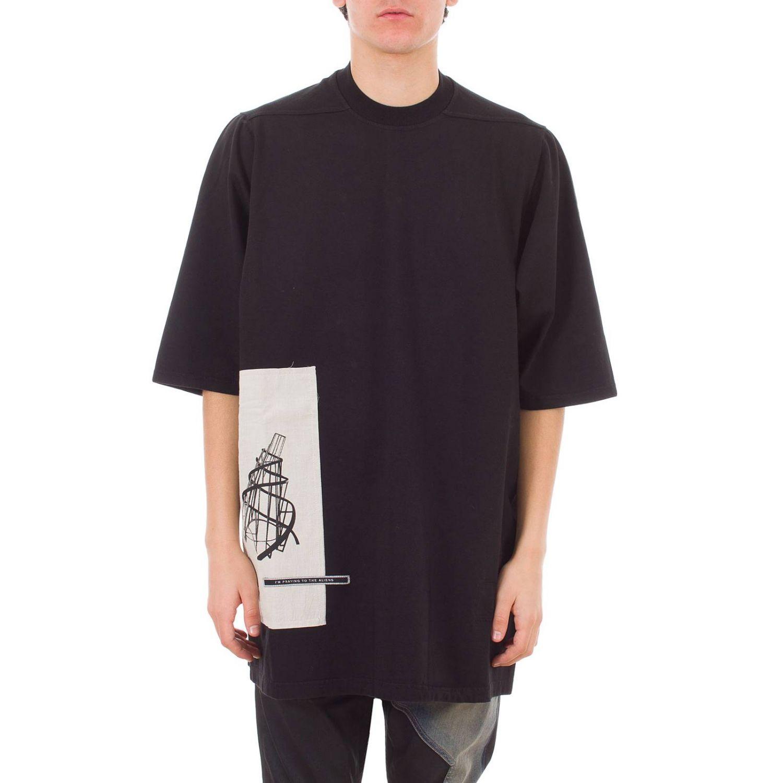 T-shirt Drkshdw a maniche corte over con maxi stampe nero 1