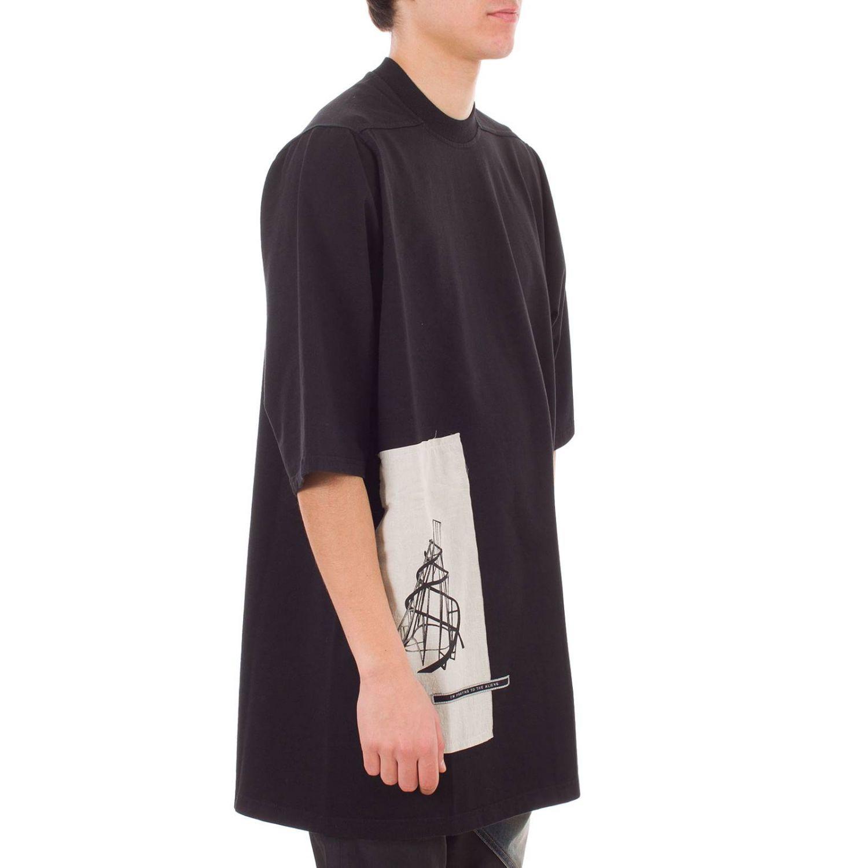 T-shirt Drkshdw a maniche corte over con maxi stampe nero 2