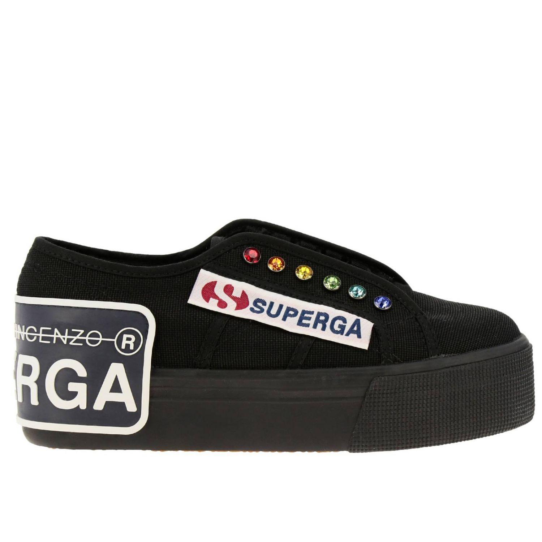 Sneakers damen Marco De Vincenzo schwarz 1