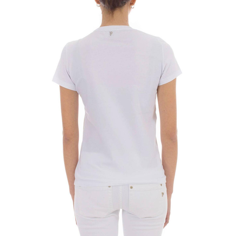 T-shirt Dondup a maniche corte con stampa logo bianco 3