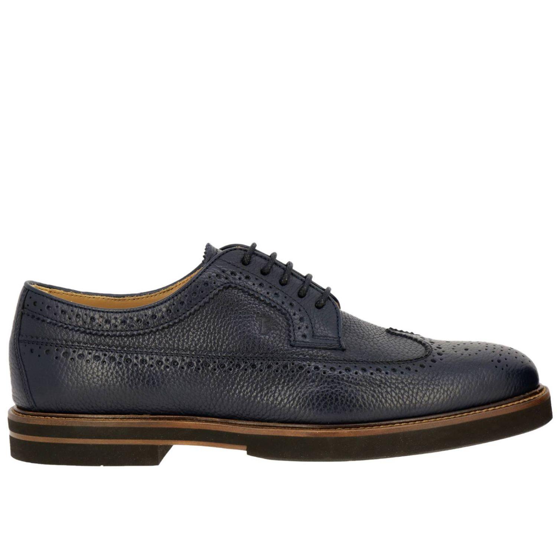 Zapatos de cordones hombre Tod's azul oscuro 1