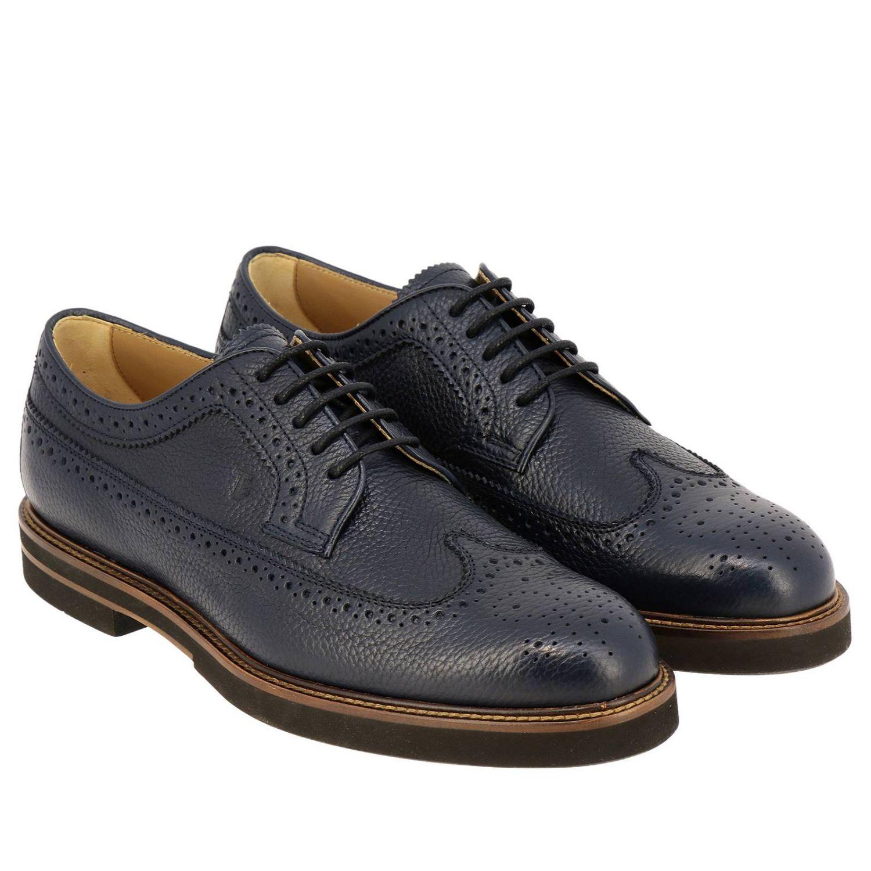 Zapatos de cordones hombre Tod's azul oscuro 2