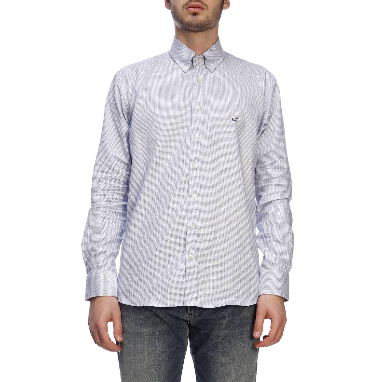 Shirt men Etro gnawed blue 1