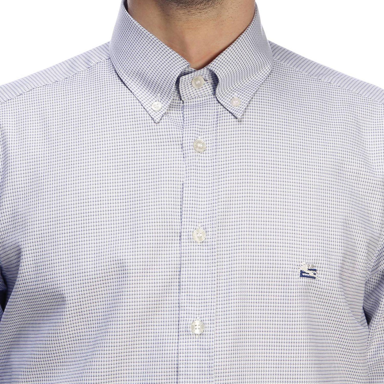 Shirt men Etro gnawed blue 4