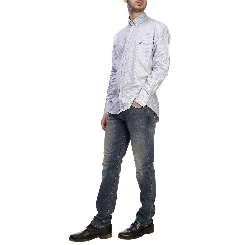 Shirt men Etro gnawed blue 5
