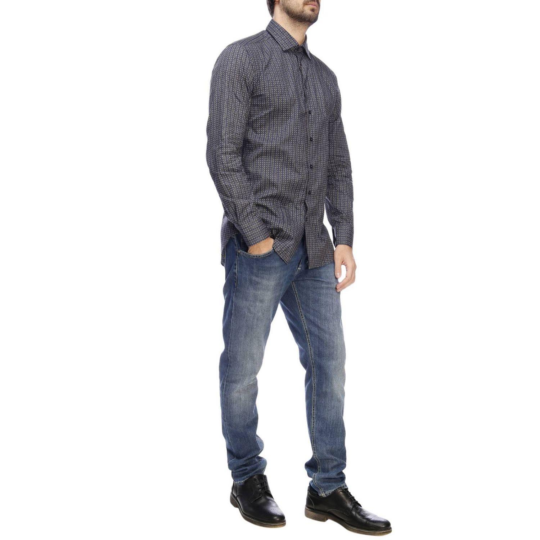 Camicia Etro a micro fantasia blue 5