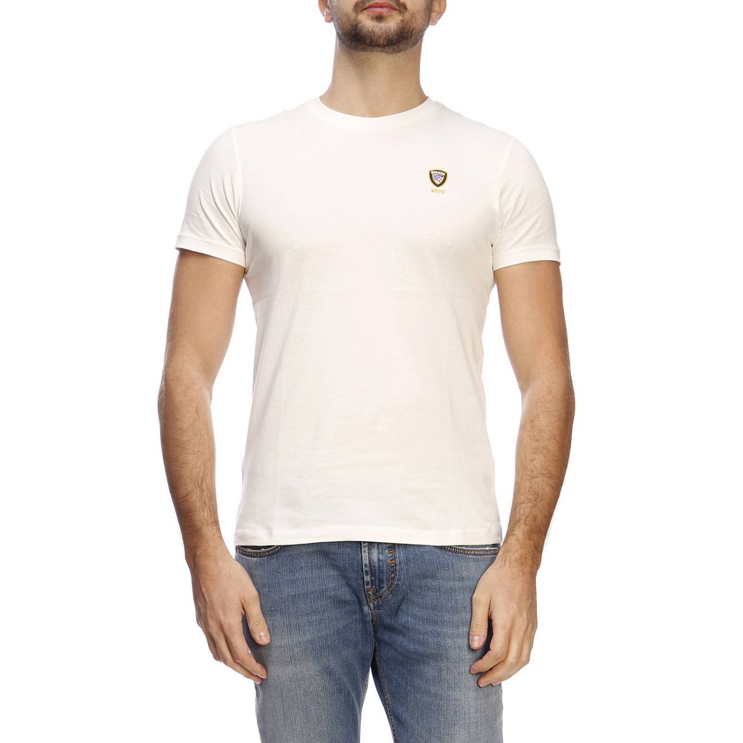 T-shirt men Blauer ivory 1