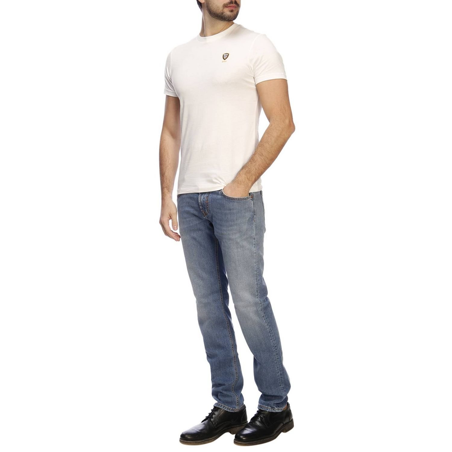 T-shirt men Blauer ivory 4