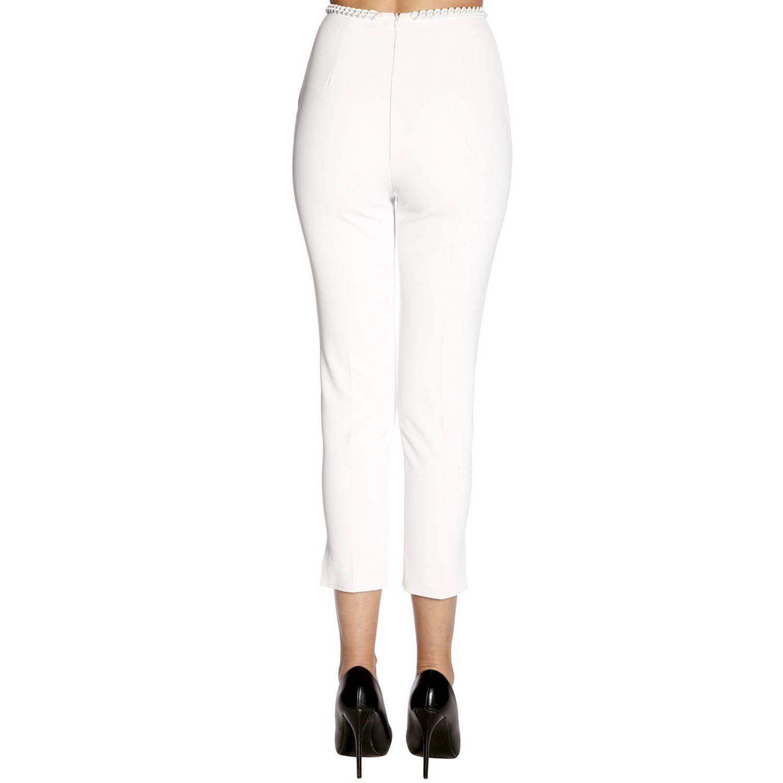 Pantalone donna Elisabetta Franchi avorio 3