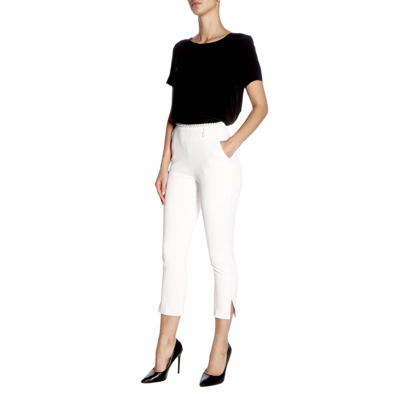 Pantalone donna Elisabetta Franchi avorio 4