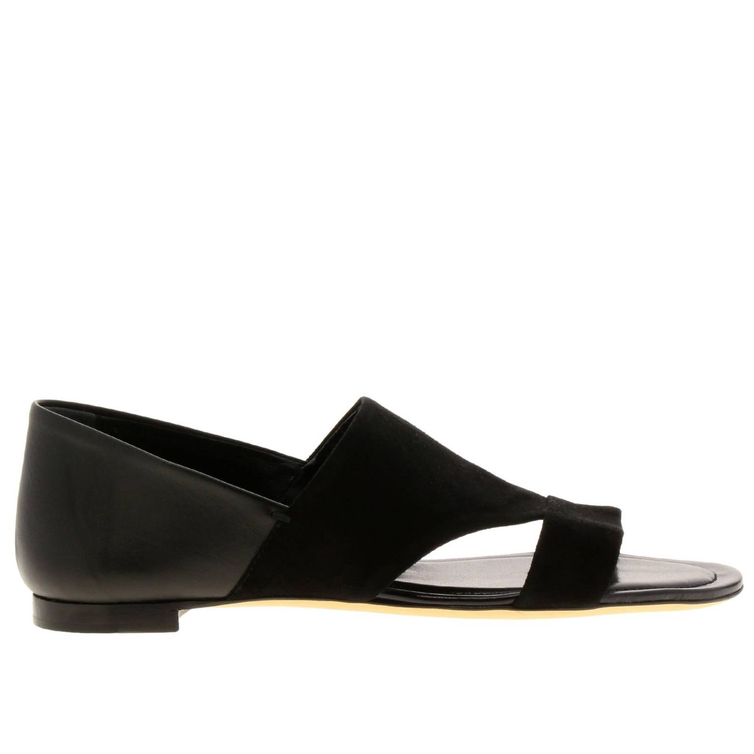Sandales plates Tods: Chaussures femme Tod's noir 1