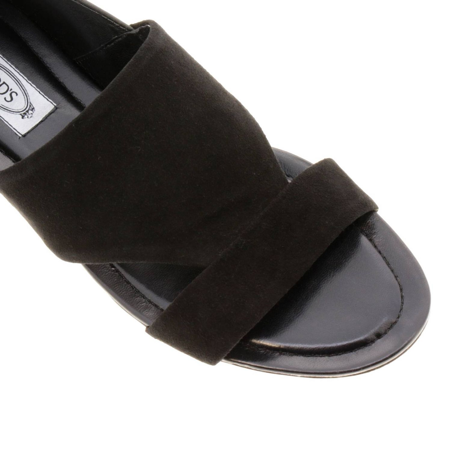 Sandales plates Tods: Chaussures femme Tod's noir 3