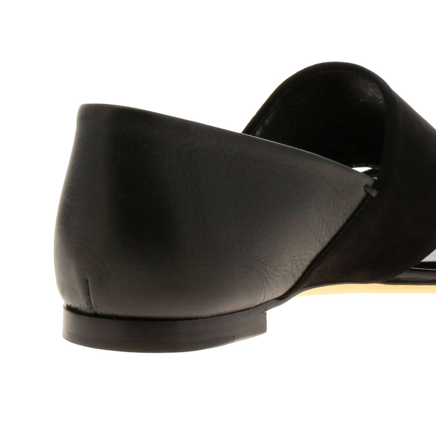 Sandales plates Tods: Chaussures femme Tod's noir 4