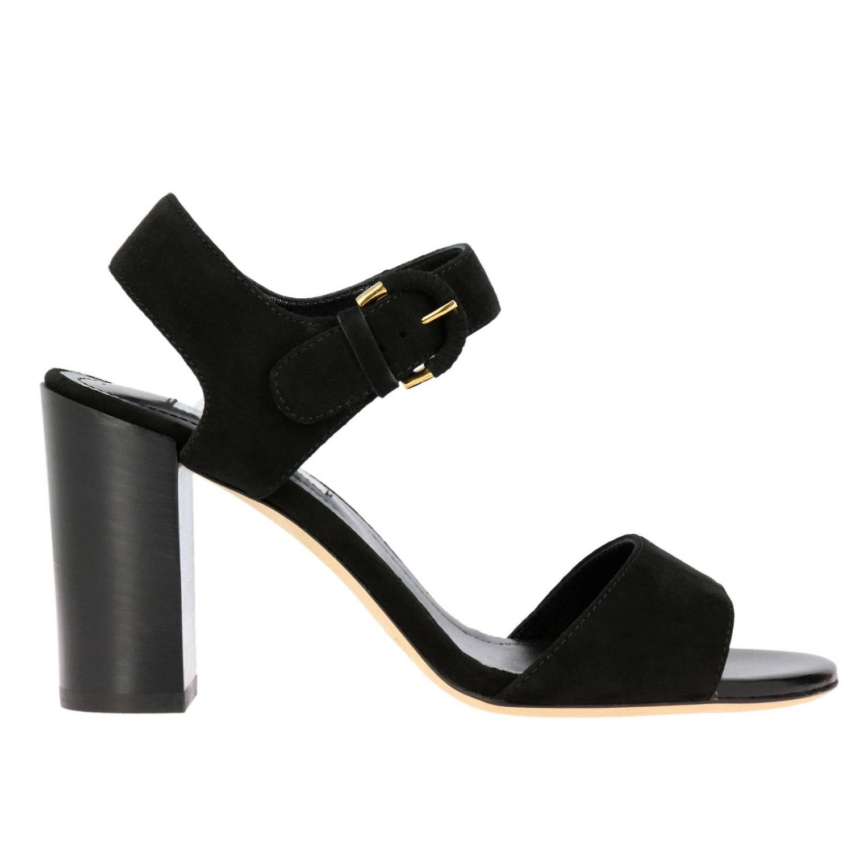 Sandalo Tod's con fascia in camoscio nero 1