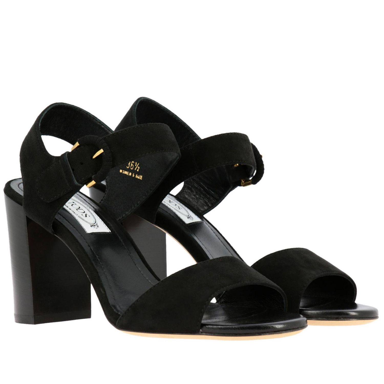 Sandalo Tod's con fascia in camoscio nero 2