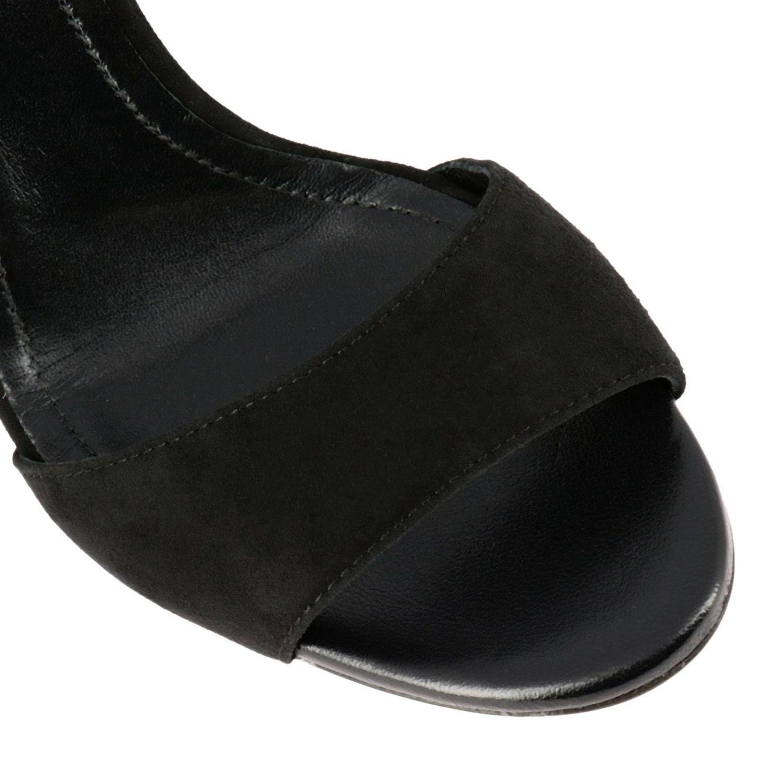 Sandalo Tod's con fascia in camoscio nero 3