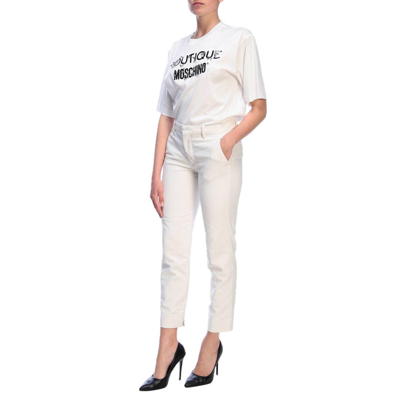 T-Shirt Boutique Moschino: T-shirt women Boutique Moschino white 4