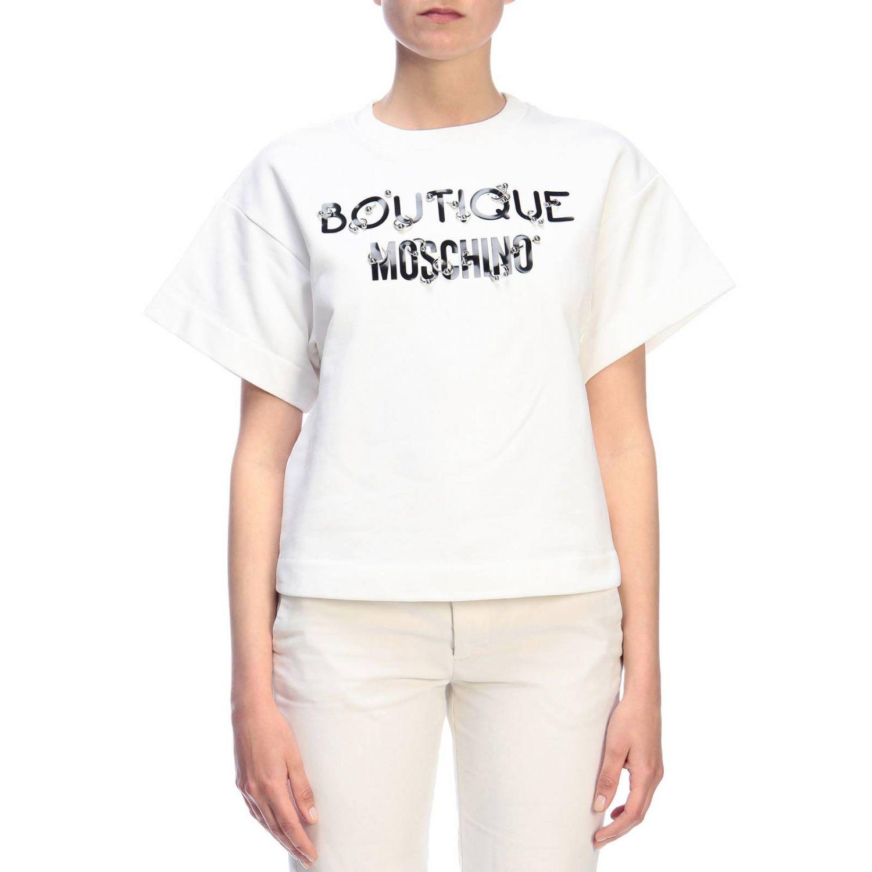 Sweatshirt Boutique Moschino: Sweatshirt women Boutique Moschino white 1