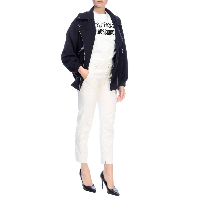 Sweatshirt Boutique Moschino: Sweatshirt women Boutique Moschino white 4