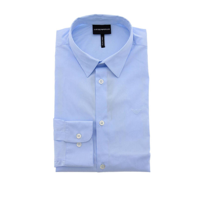 Camicia Emporio Armani con collo italiano azzurro 1