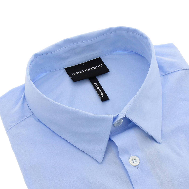Camicia Emporio Armani con collo italiano azzurro 2