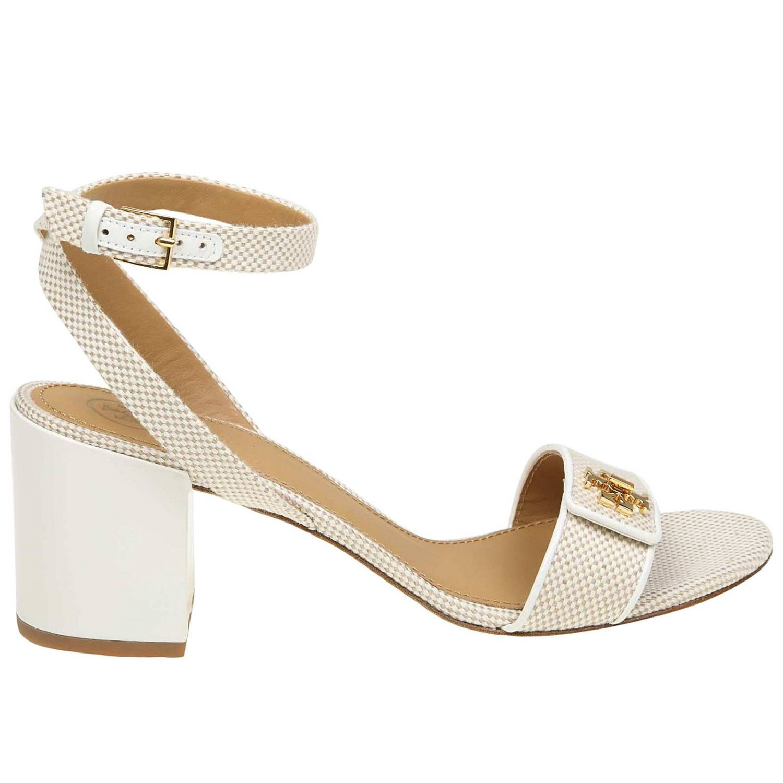 Heeled sandals women Tory Burch ivory 1