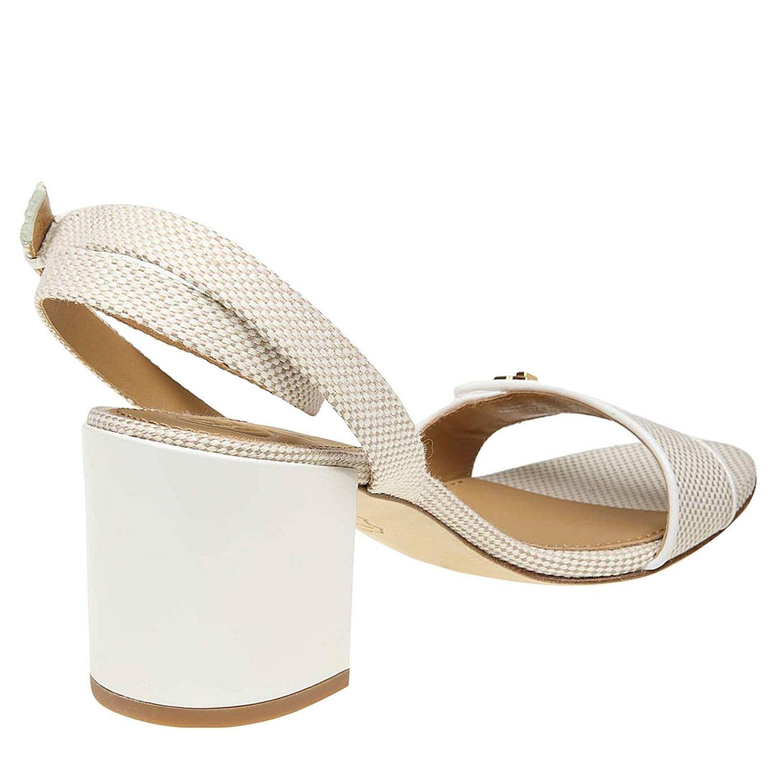 Heeled sandals women Tory Burch ivory 4