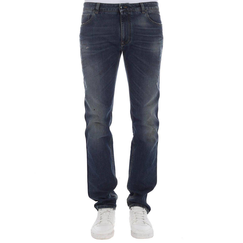 Jeans Etro: Jeans a vita bassa modello a 5 tasche stretch used by Etro blue 1