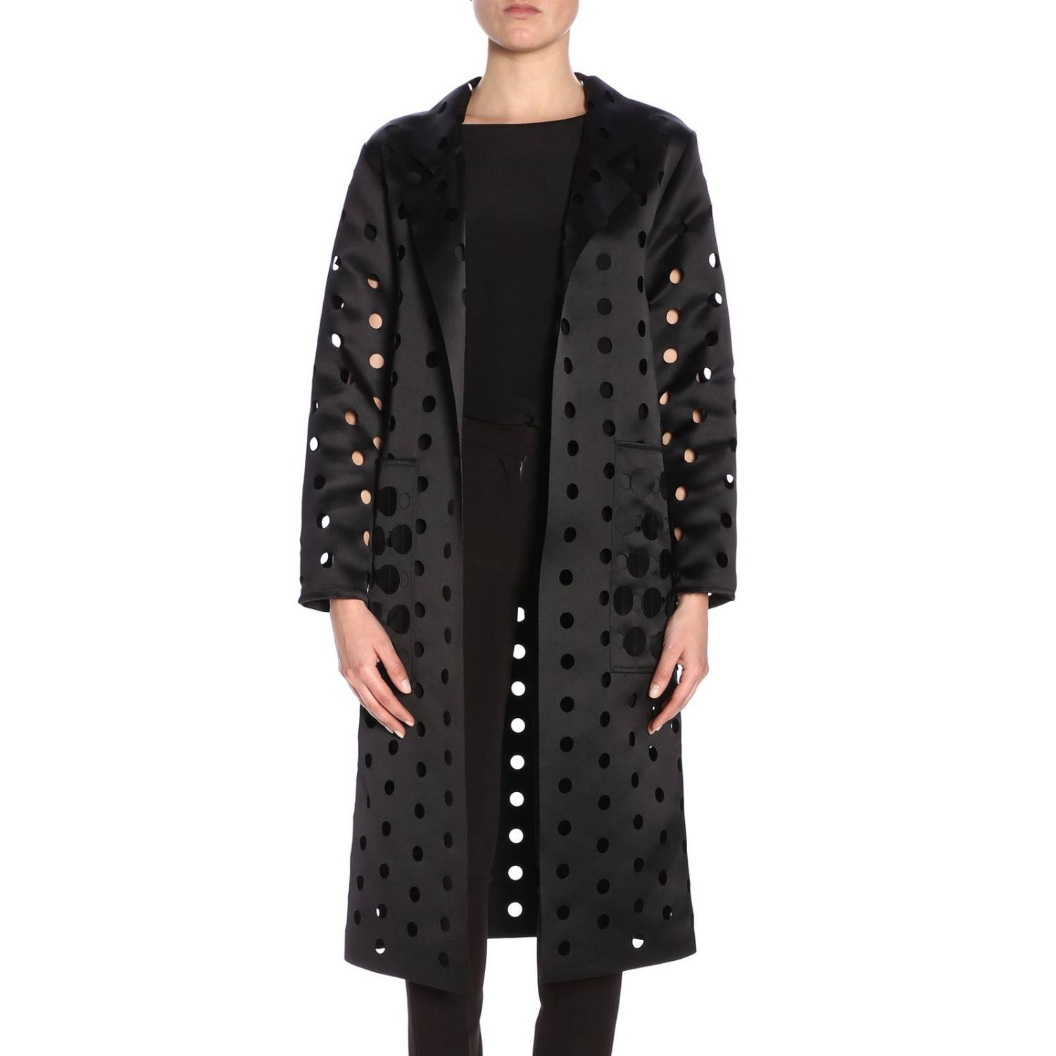 Cappotto donna Caban Romantic nero 1