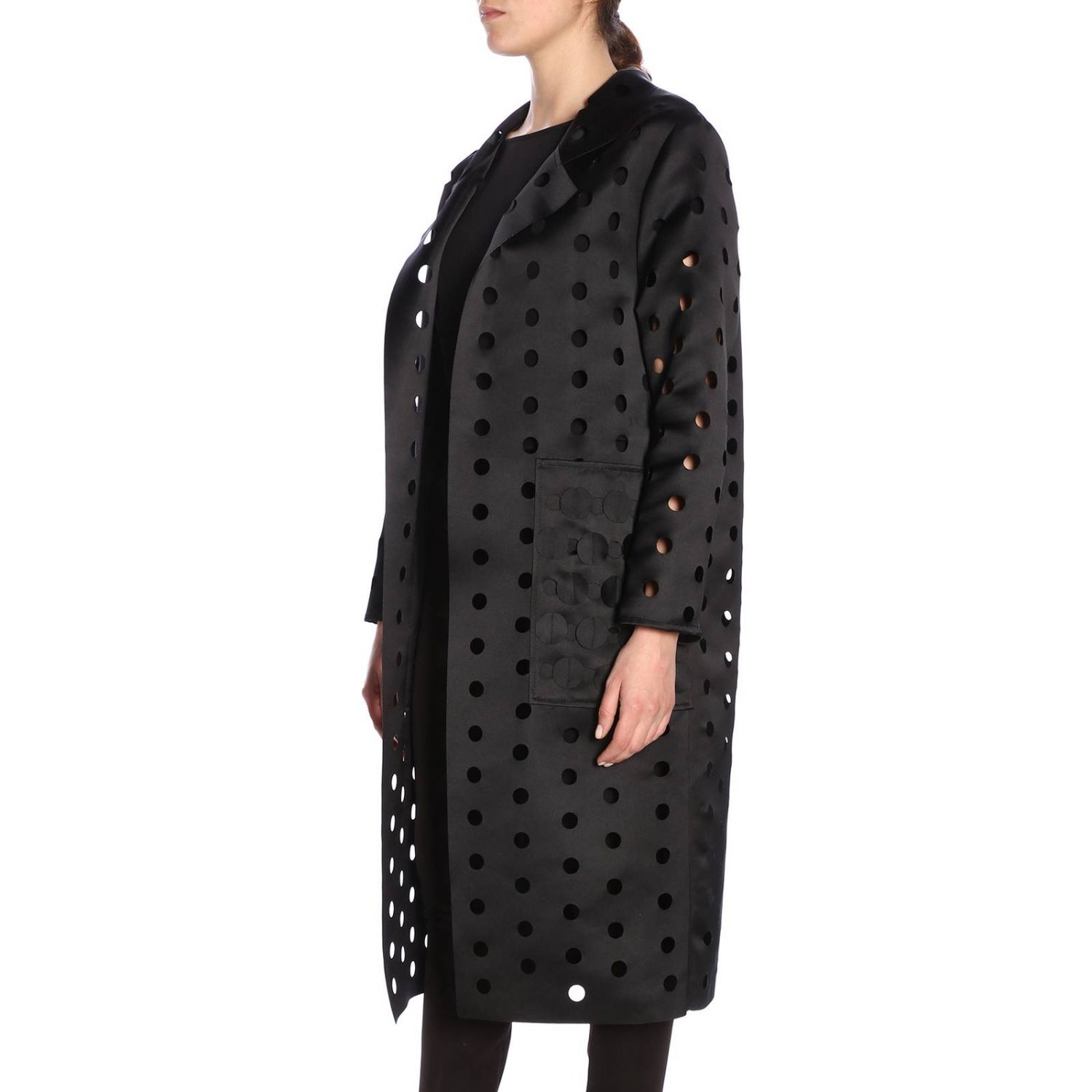Cappotto donna Caban Romantic nero 2
