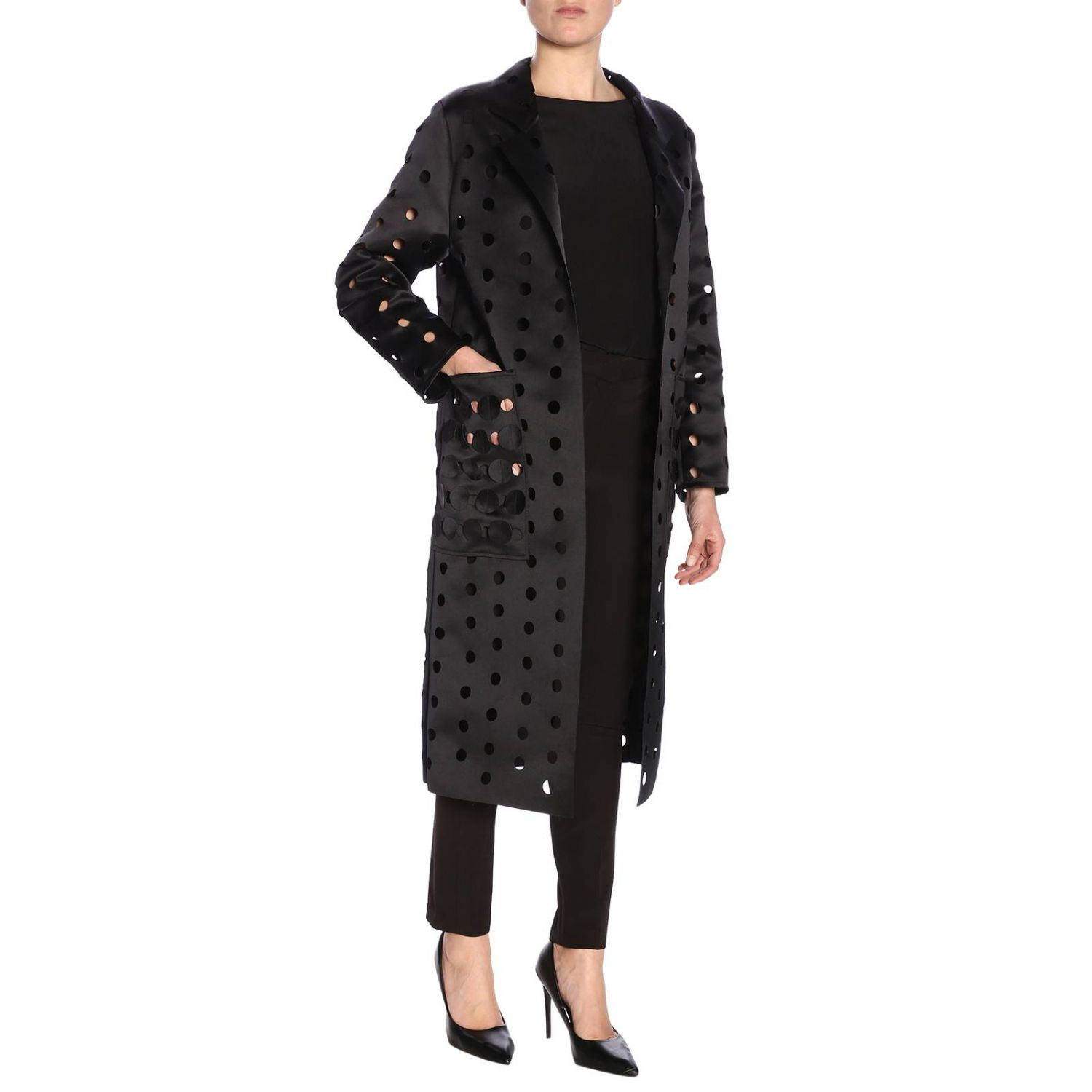 Cappotto donna Caban Romantic nero 4