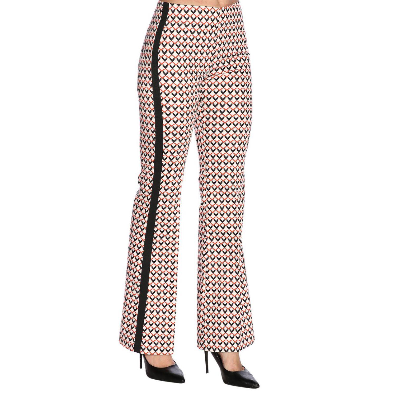 Pantalone Hanita a vita media con fantasia all over e bande laterali fantasia 2
