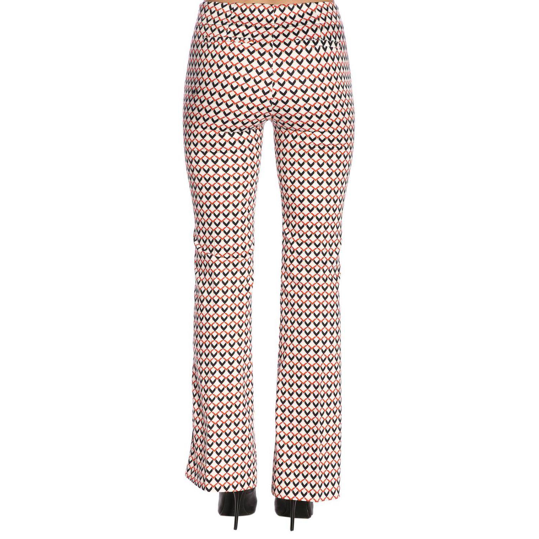 Pantalone Hanita a vita media con fantasia all over e bande laterali fantasia 3