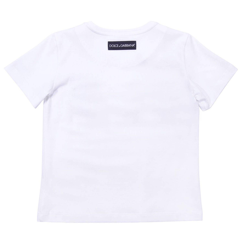 T-shirt a maniche corte con maxi stampa D&G by Dolce & Gabbana bianco 2