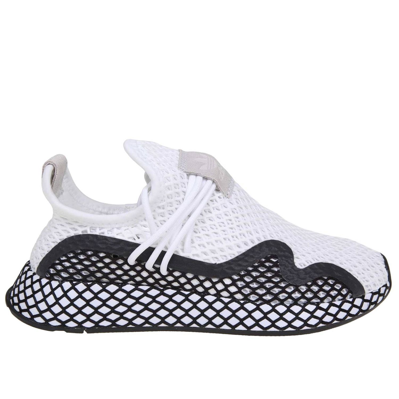Sneakers Adidas Originals in mesh stretch effetto rete bianco 1